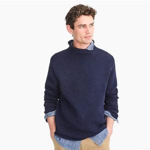 J.Crew navy unisex 1988 cotton roller neck sweater